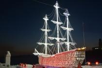 Корабль на Семеновском озере